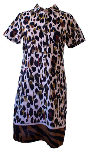 Zebra Border Safari Dress