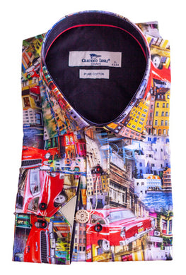 Claudio Lugli Cityscape Long Sleeve Shirt