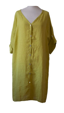Chartreuse Linen Tunic