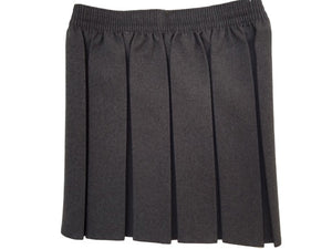 Grey Box Pleat Skirt