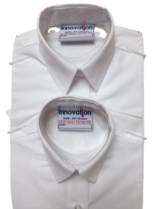 BOYS WHITE SHORT SLEEVE DRESS SHIRT- Pack of 2