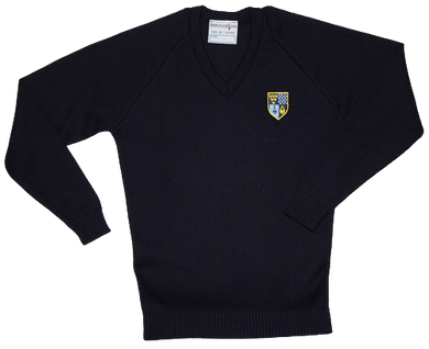 Claverham Girls V Neck Jumper