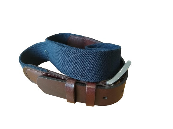 IBEX Webbing Belt with Leather ends
