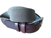 Load image into Gallery viewer, IBEX Webbing Belt with Leather ends