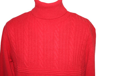 Massoti Red Roll-neck Sweater