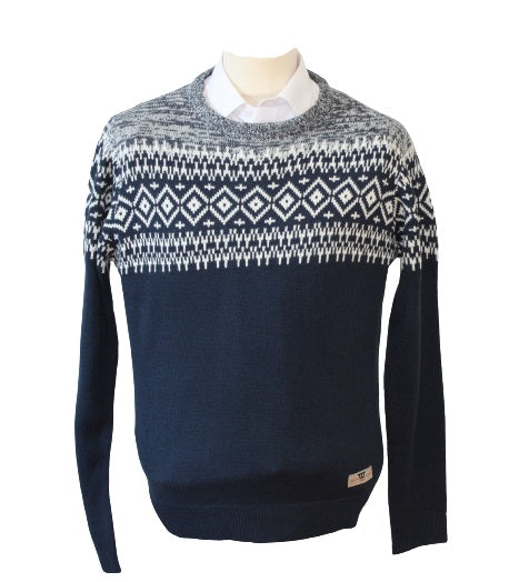Marlon Crew Neck Fair Isle Jumper