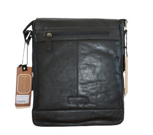 Ashwood 'Crumble' Leather Messenger Bag