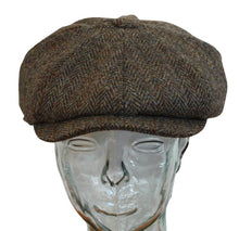Load image into Gallery viewer, Carloway Harris Tweed 8 sectioned hat