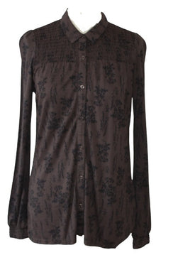 Thought Hiller Bamboo Sheering Detail Print Top