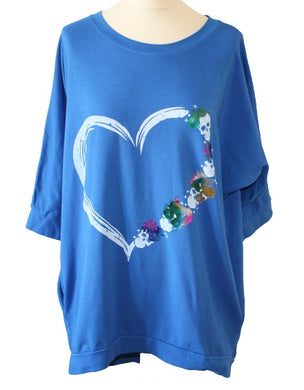 LV Skull Heart Graphic Tunic