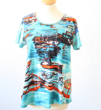 Load image into Gallery viewer, Orientique Contemporary Boats T Shirt