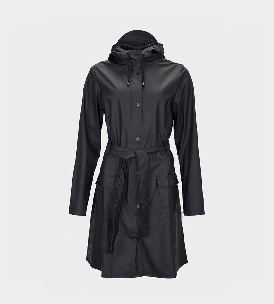Rains Curve Jacket Black Raincoat