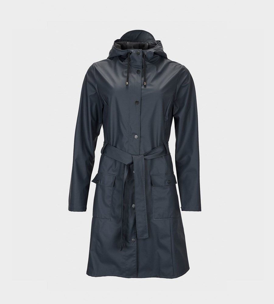 Rains | Curve Jacket | Navy Blue