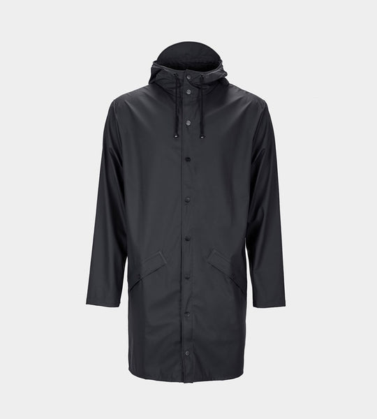 Rains Long Jacket | Black