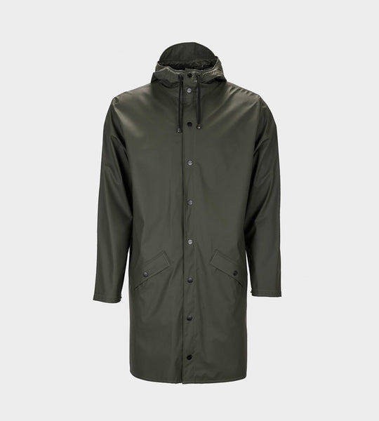 Rains Long Jacket | Green