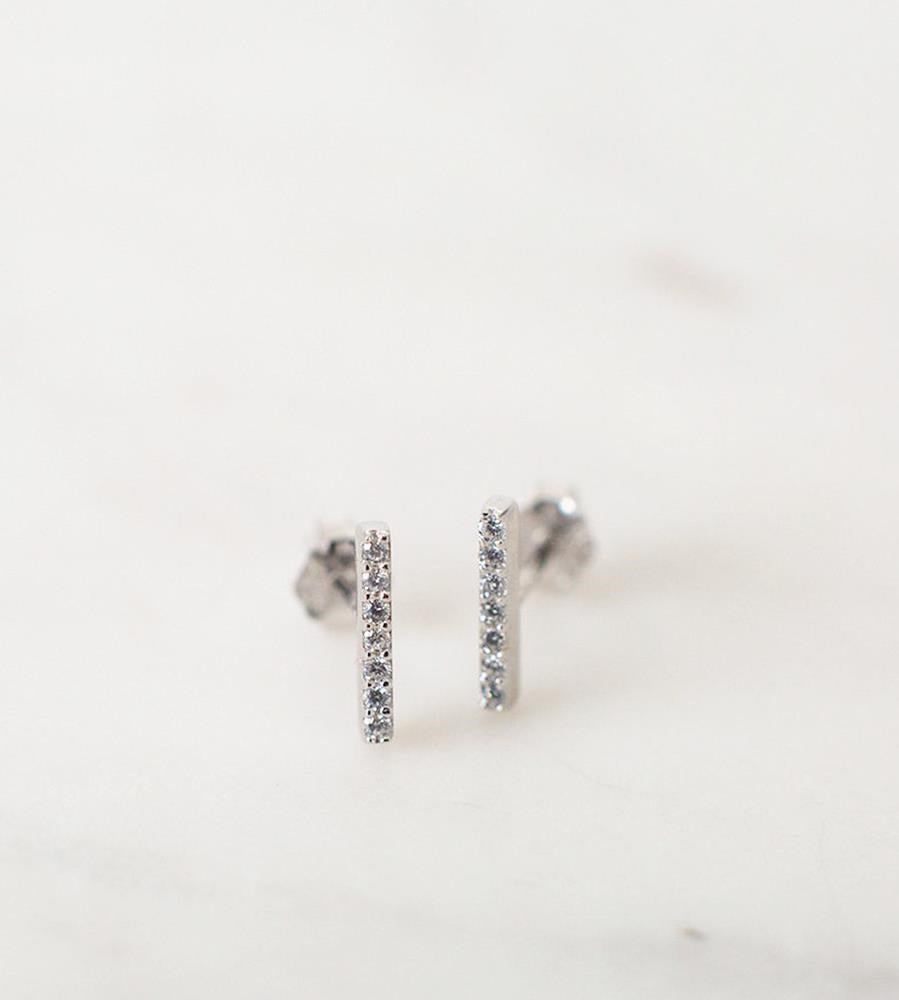Sophie | Sparkle Bar Studs Earrings