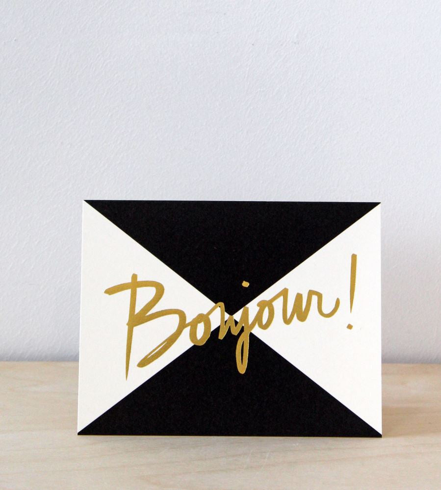 Garance Dore / Rifle Paper Co. | Bonjour! Card