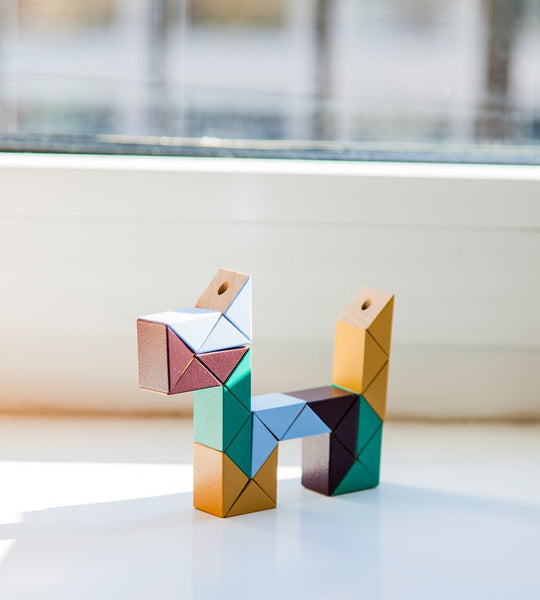Areaware Wooden Snake Blocks Games