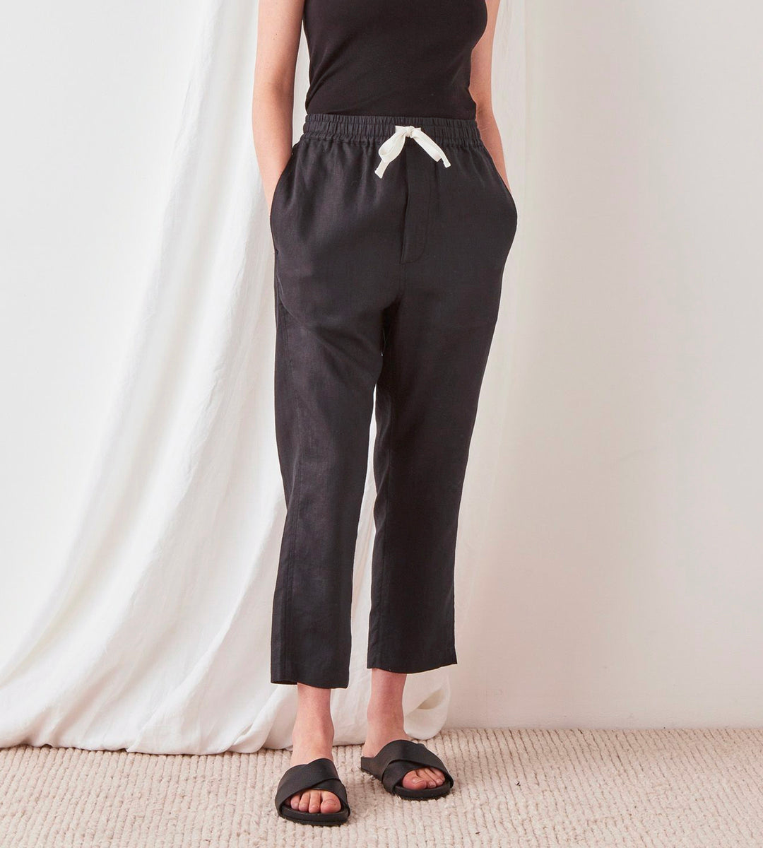 Assembly Label | Anya Linen Pant  | Black