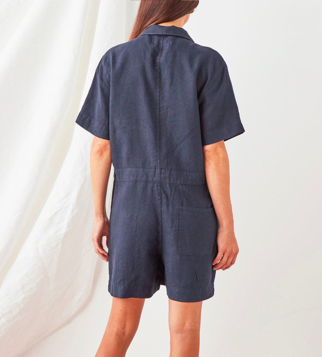 Assembly Label | Blair Linen Playsuit | True Navy