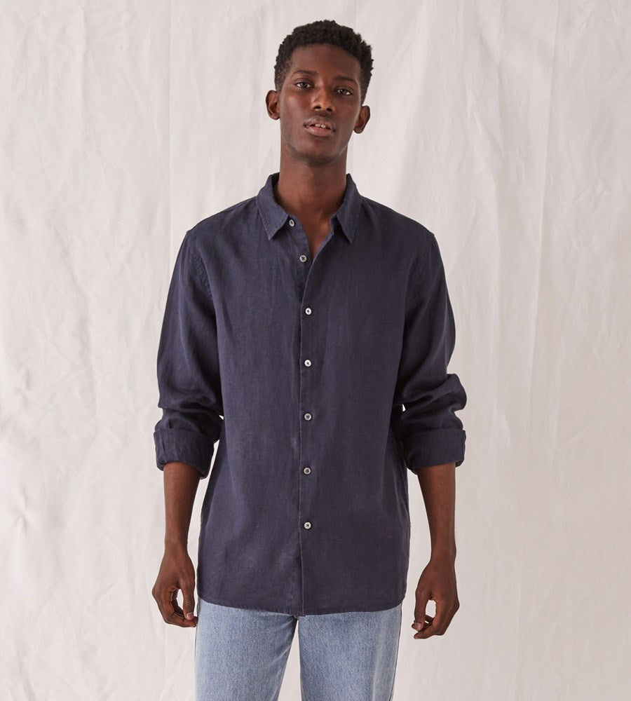 Assembly Label | Men's Casual Long Sleeve Shirt | True Navy
