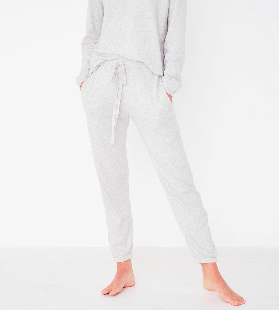 Assembly Label | Cotton Cashmere Lounge Pant | Grey Marle