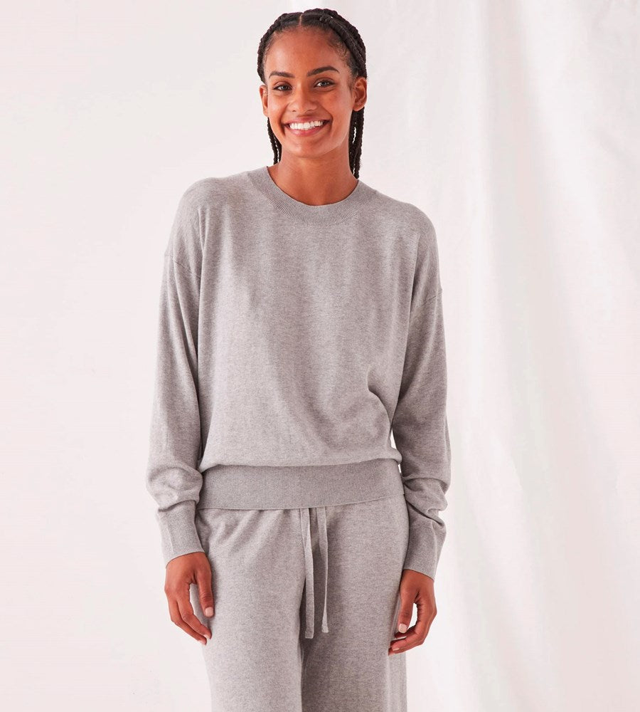 Assembly Label | Cotton Cashmere Lounge Sweater | Grey Marle