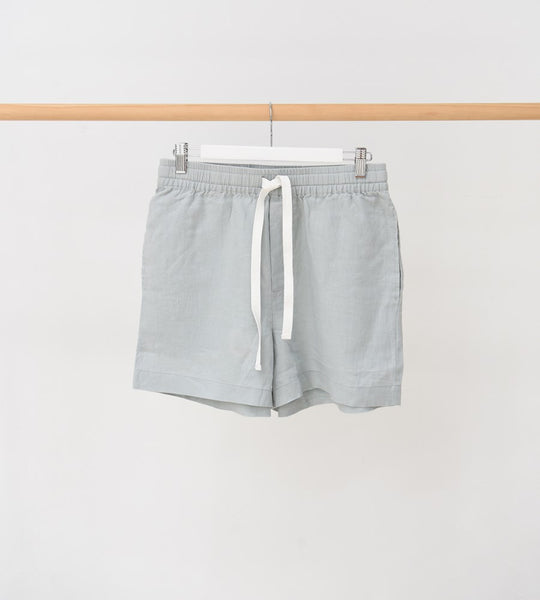 Assembly Label Ease Linen Short Seafoam