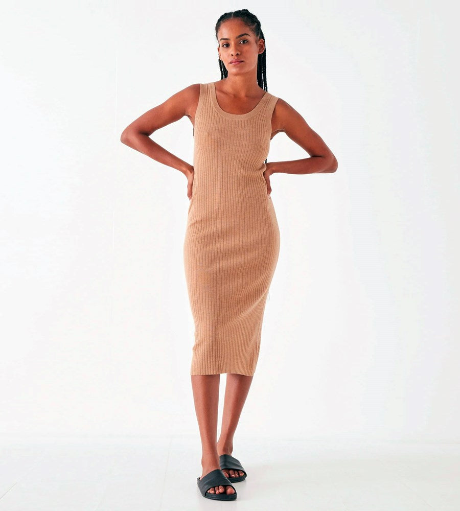 Assembly Label | Ella Knit Tank Dress | Taupe