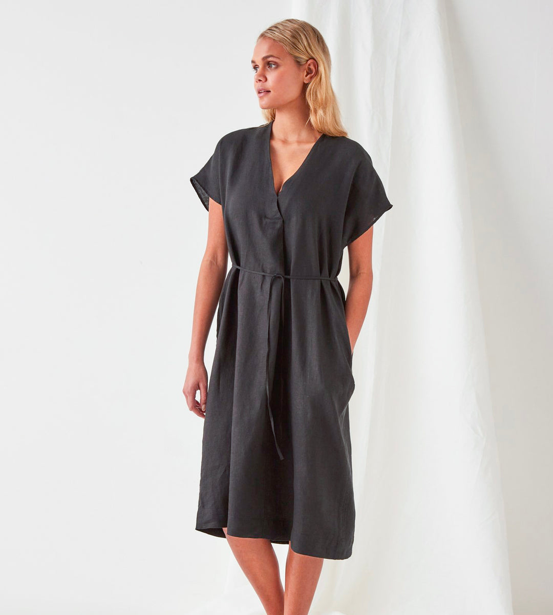 Assembly Label | Freya Linen Dress | Black