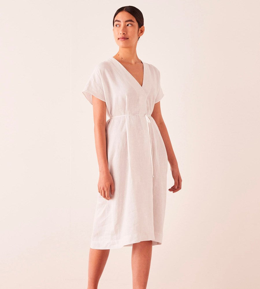 Assembly Label | Freya Linen Dress | Silver Grey