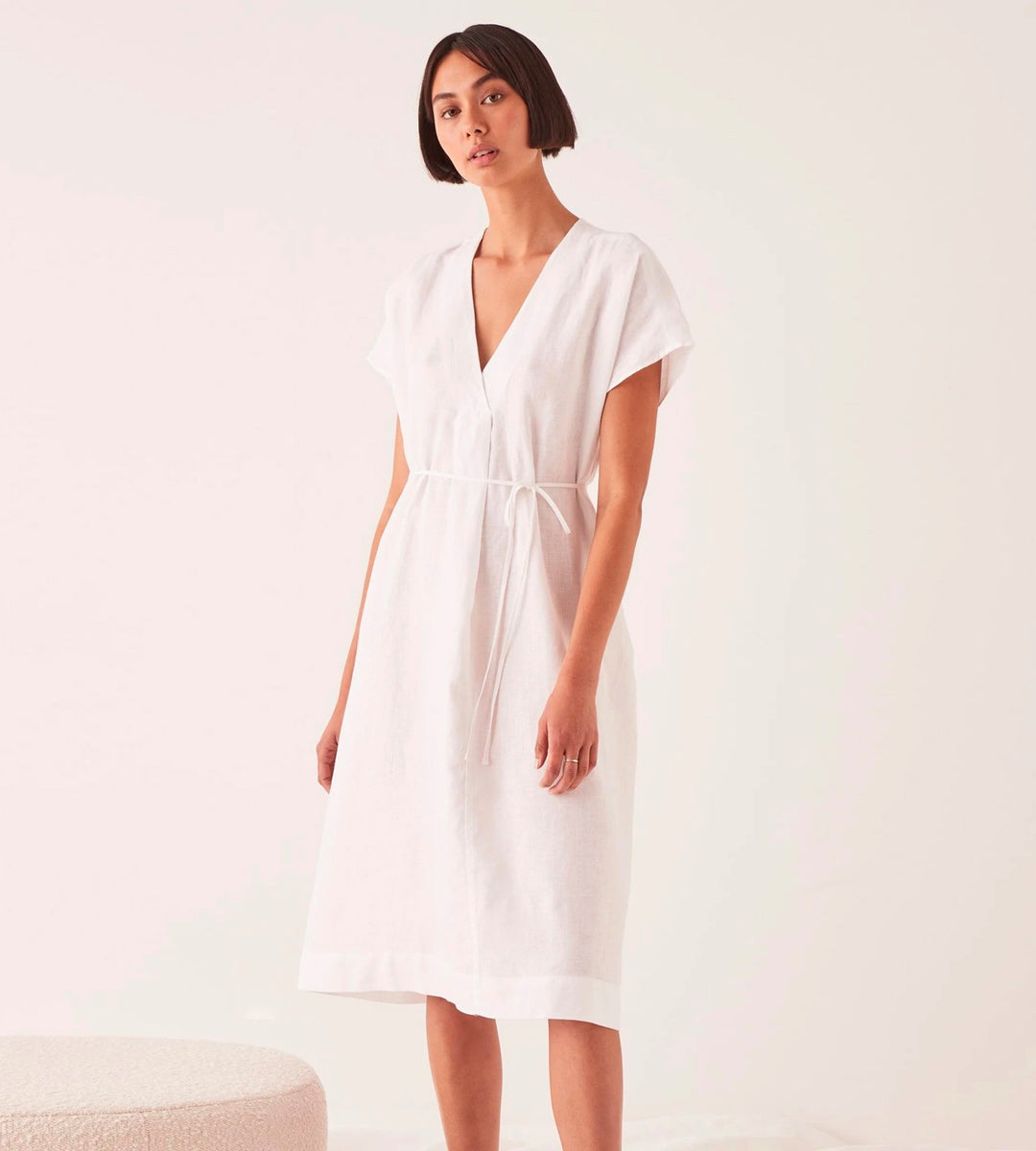 Assembly Label | Freya Linen Dress | White