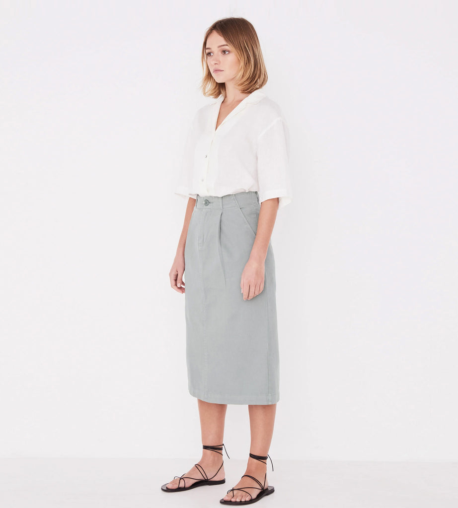 Assembly Label Imi Canvas Skirt Mineral Green