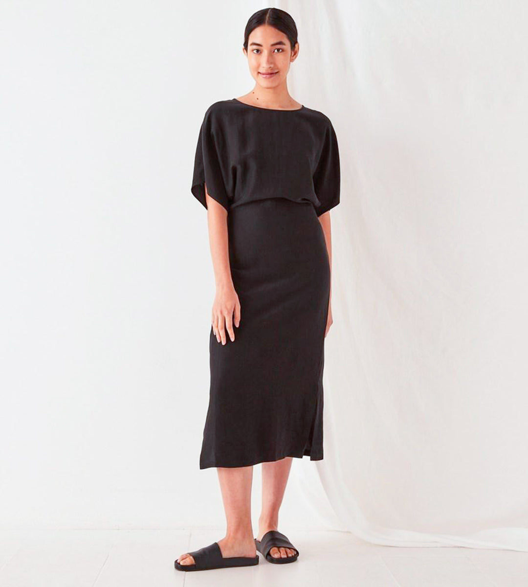 Assembly Label | Ivy Kimono Sleeves Dress | Black