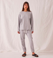 Assembly Label | Kin Fleece Top | Grey Marle