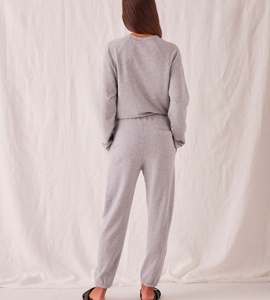 Assembly Label | Kin Fleece Trackpant | Grey Marle