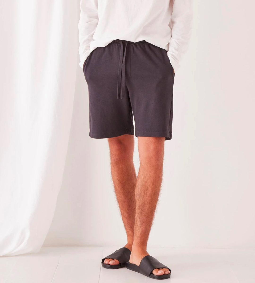 Assembly Label | Men's Lennox Lounge Short | Washed Black