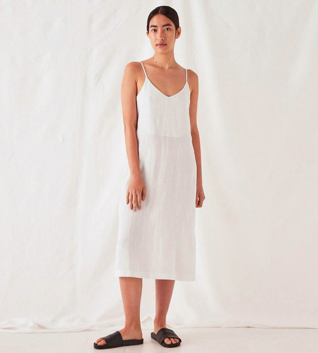 Assembly Label | Linen Slip Dress | Silver Grey