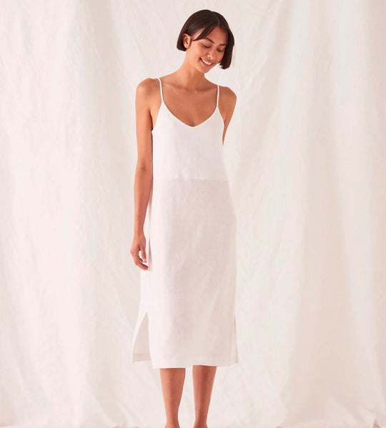 Assembly Label | Linen Slip Dress | White