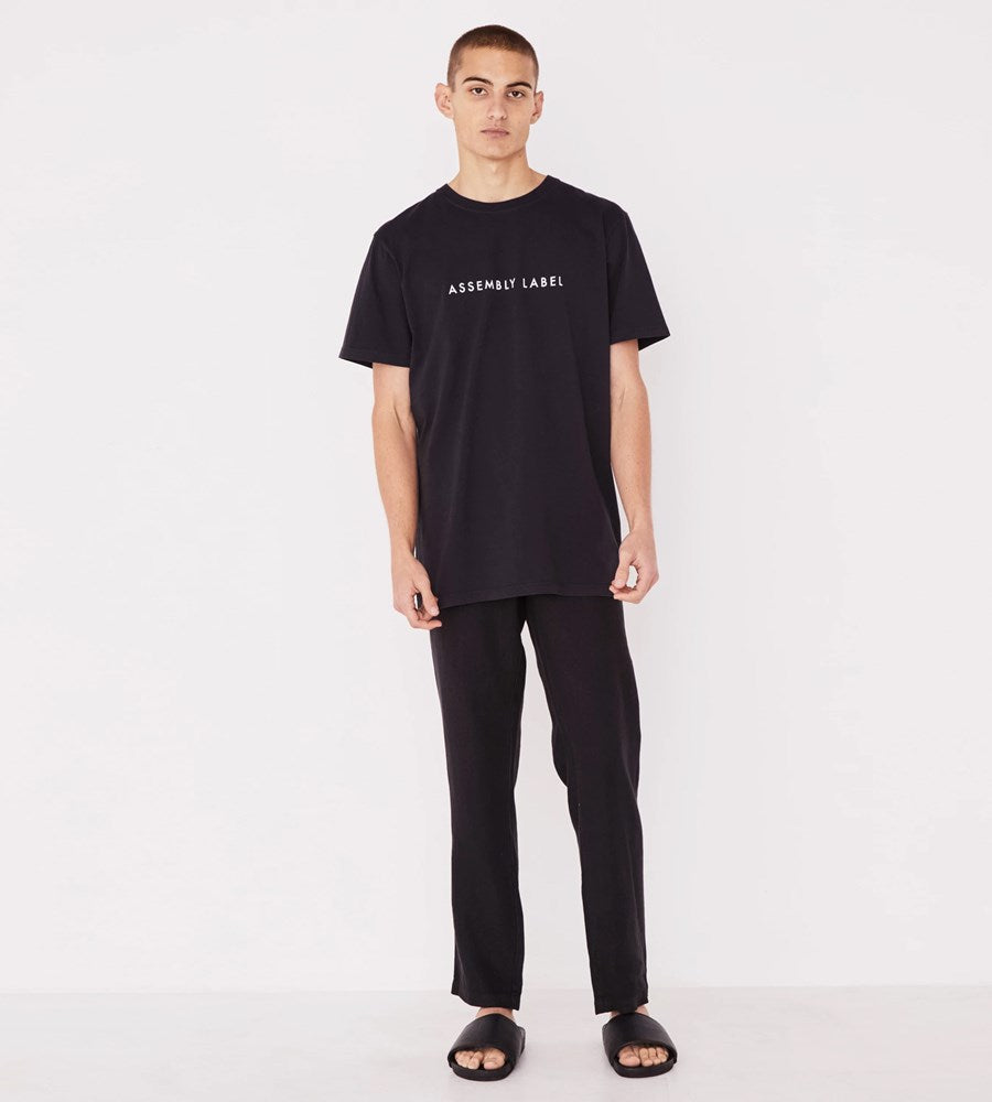 Assembly Label | Men's Logo Tee | Black