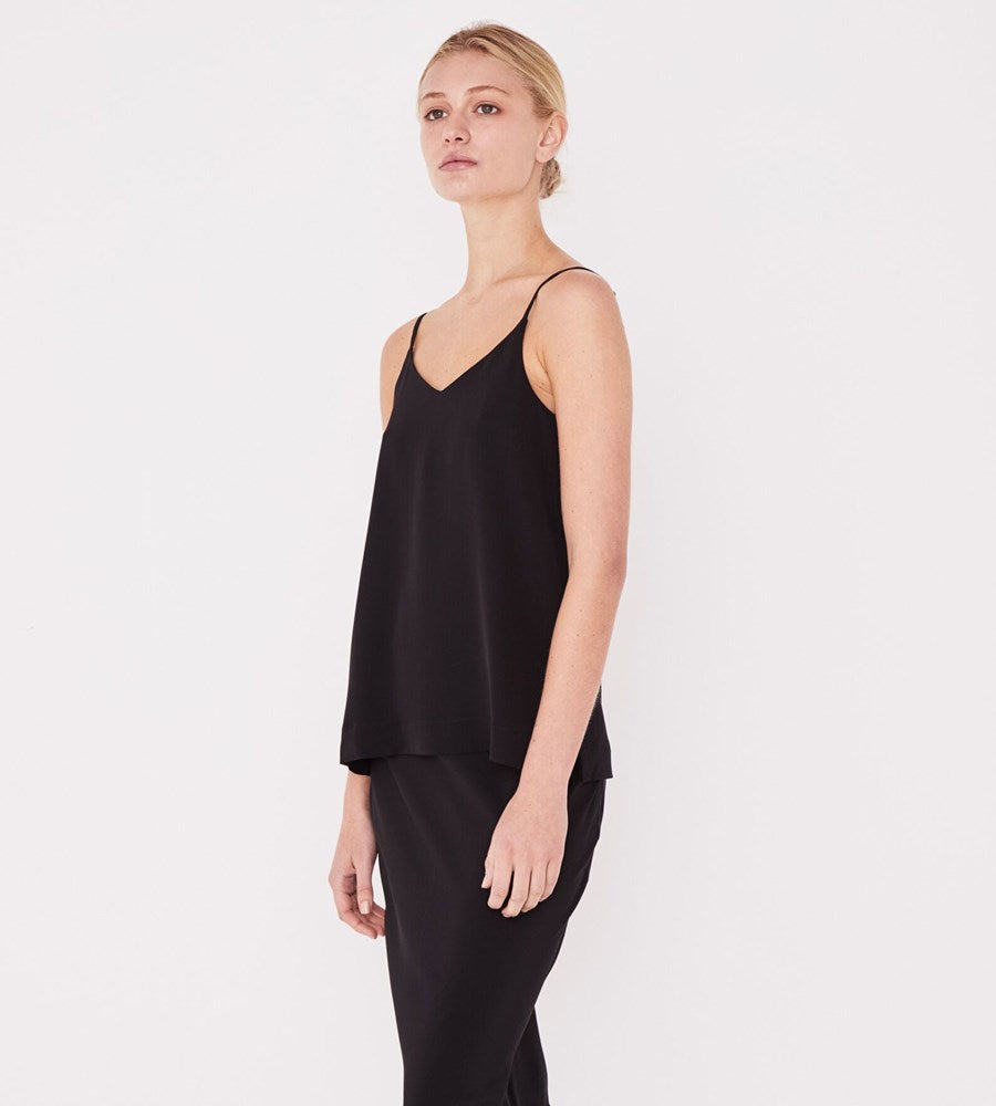 Assembly Label | Malene Silk Cami | Black