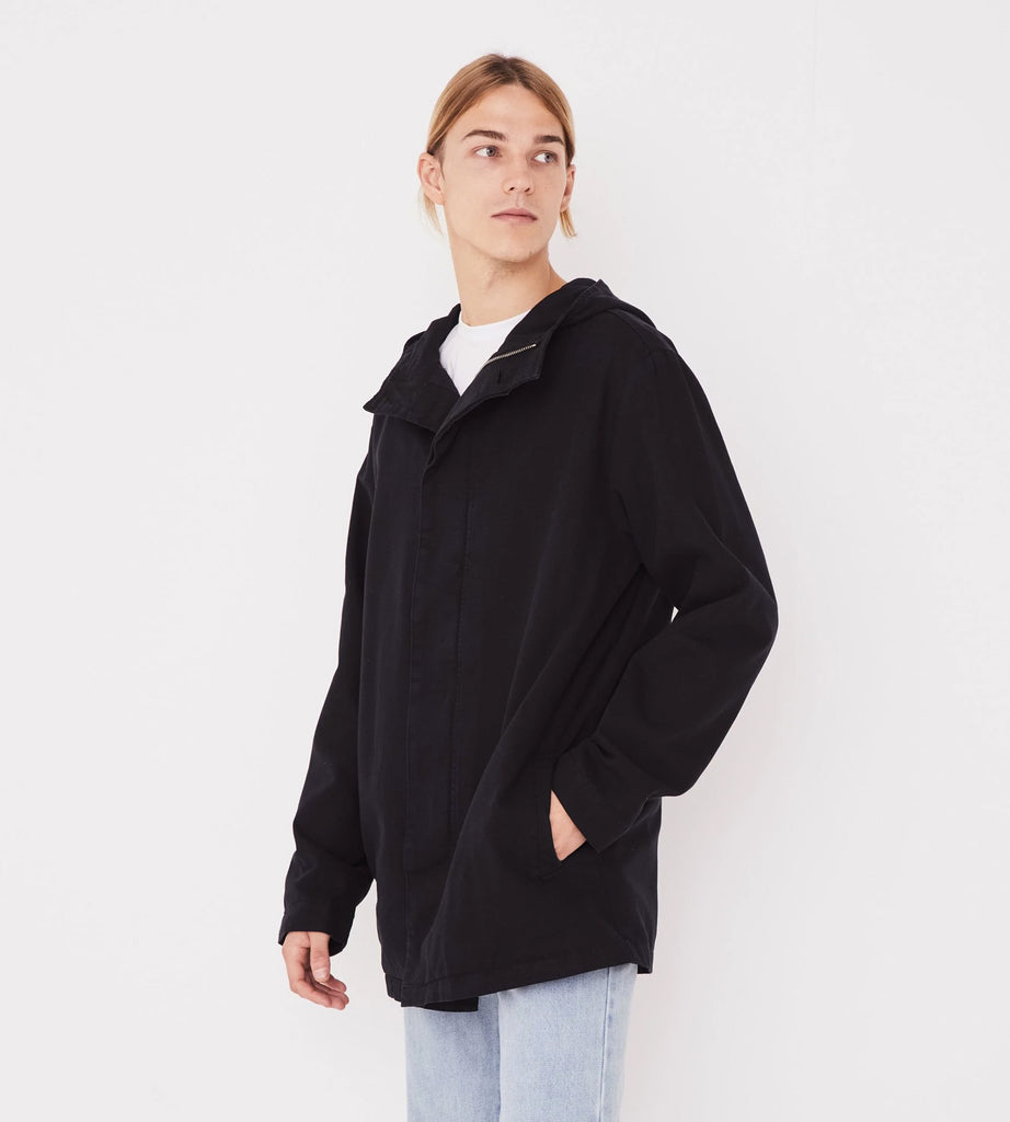 Assembly Label | Men's Frontier Canvas Parka | Black