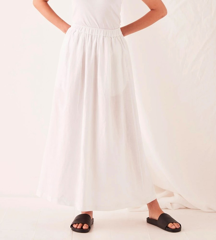 Assembly Label | Noma Linen Skirt | White