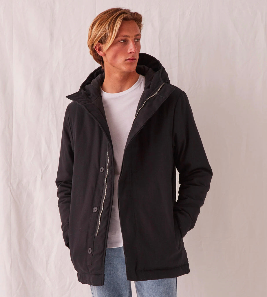 Assembly Label | Men's Padded Frontier Canvas Parka | Black