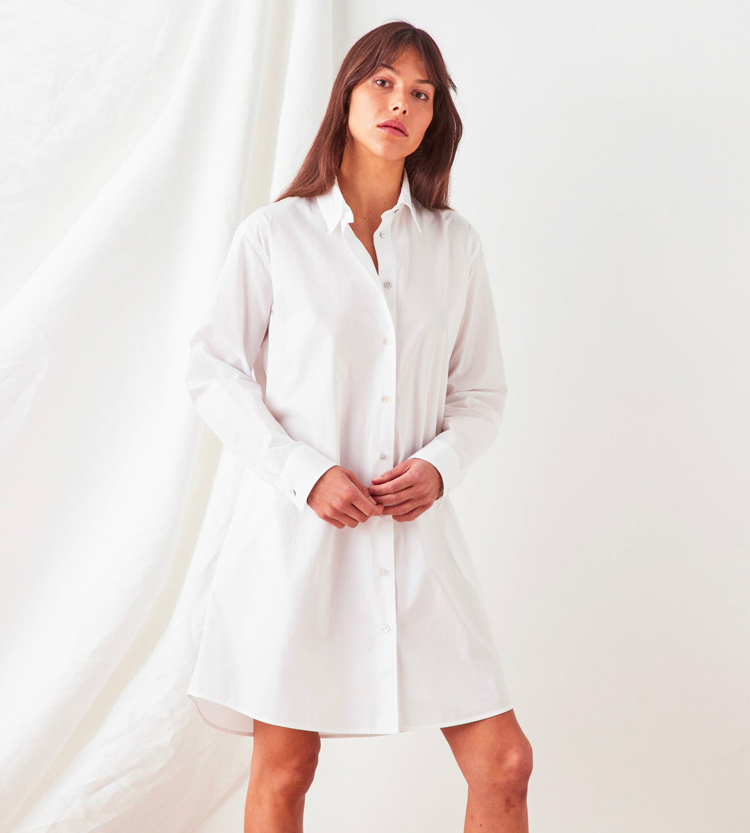 Assembly Label | Pira Poplin Shirt Dress | White