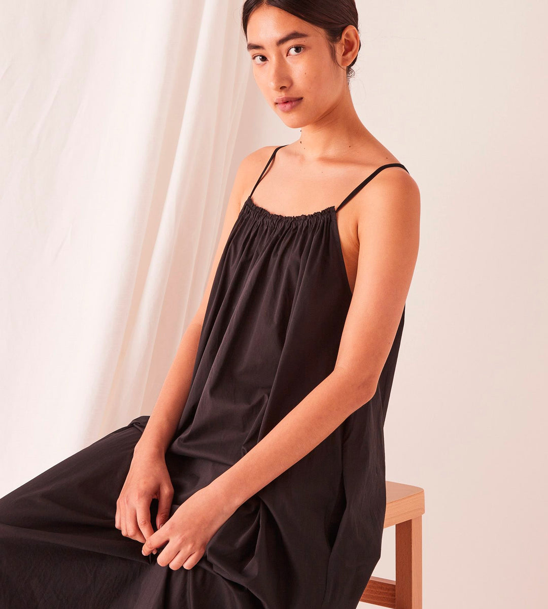 Assembly Label | Voile Maxi Dress | Black