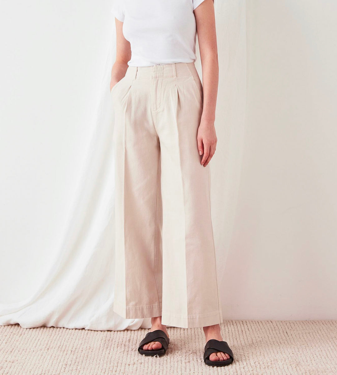 Assembly Label | Wide Leg Canvas Pant | Ivory