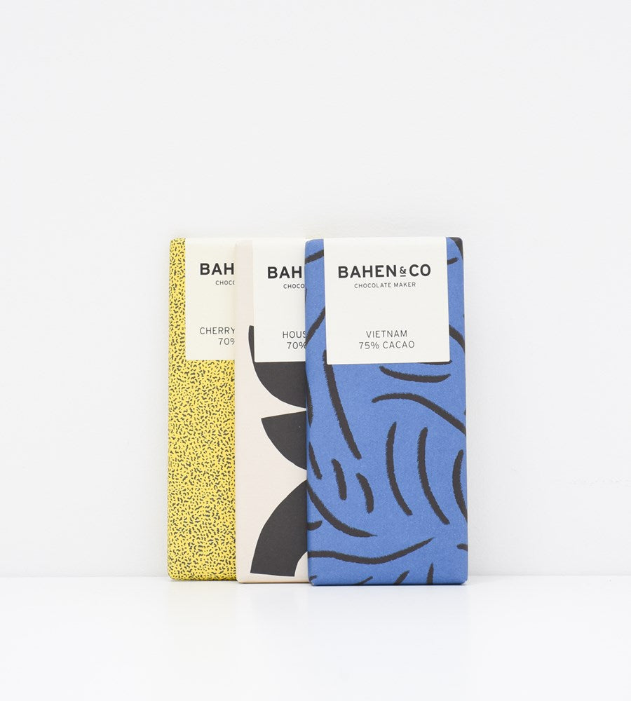 Bahen & Co. | Stone Ground Chocolate Bar | 70% Cherry & Coconut