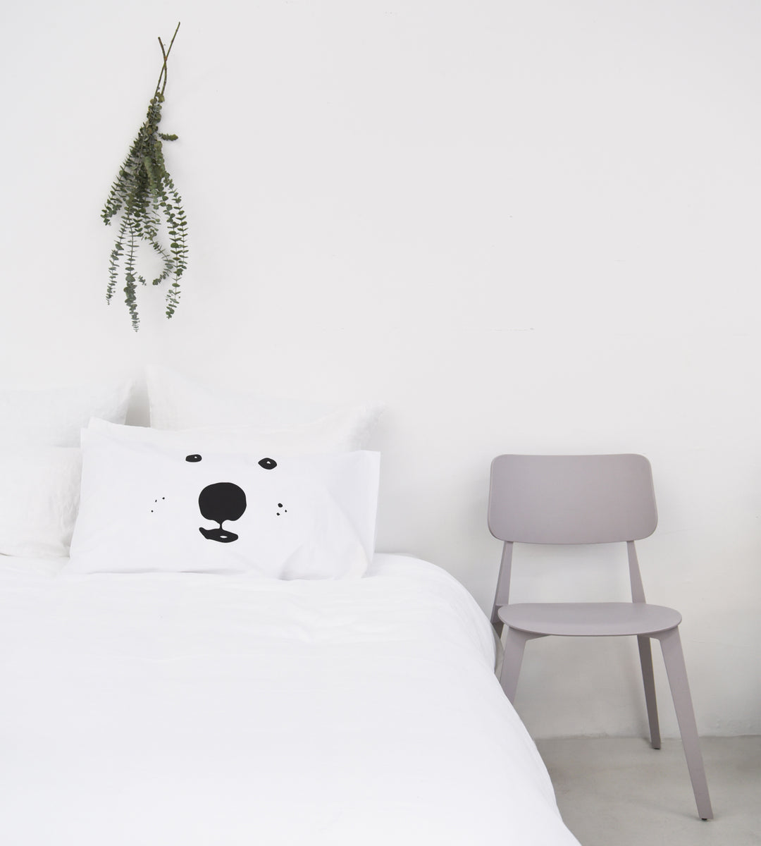 Father Rabbit Cotton Bear Face Pillowcase Single