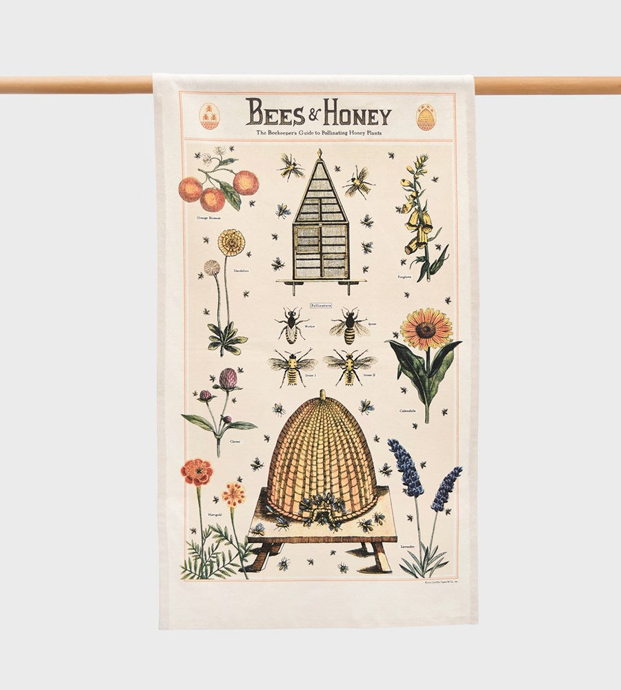 Cavallini | Bees & Honey Tea Towel